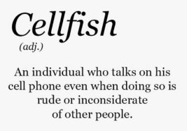 cellfish-adj-an-individual-who-talks-on-his-cell-phone-5533372