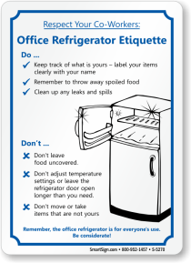 office refridge etiquette